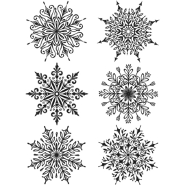 CMS 319 Tim Holtz Cling Stamps Swirly Snowflakes