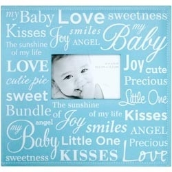 "234349 Baby Expression Post Bound Album 12""X12"" Bleu"