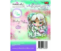 PD7711 Polkadoodles Ula Swishy Tail Clear Stamps