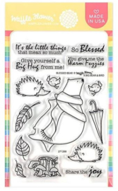 """614425 Waffle Flower Crafts Clear Stamps Blessed Bear 4""""X6"""""""