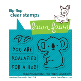 LF2564 Lawn Fawn Clear Stamps I Love You (Calyptus) Flip-Flop