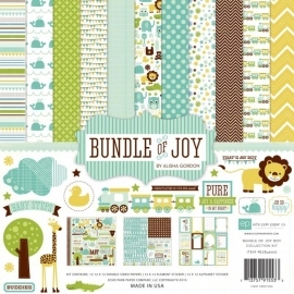 "029626 Echo Park Paper Bundle Of Joy Boy Collection Kit 12""X12"""