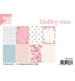 6011/0611 Papierset Design Wedding roses