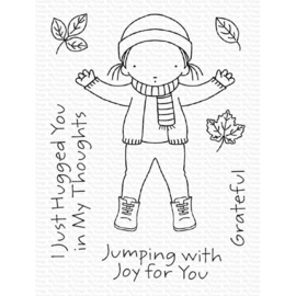 "PI302 My Favorite Things Pure Innocence Stamps Jumping With Joy 3""X4"""