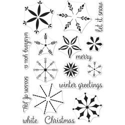 "554298 Hero Arts Clear Stamps Stacking Snowflakes 4""X6"""