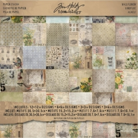 "321186 TH93110 Idea-Ology Paper Stash Paper Pad Double-Sided Wallflower ""12X12"""