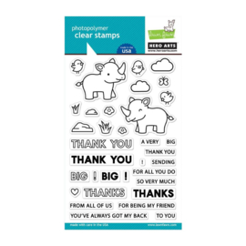 605540 Hero Arts + Lawn Fawn Stamp Set Big Thanks