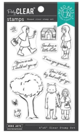 """660598 Hero Arts Clear Stamps Little Red Riding Hood 4""""X6"""""""