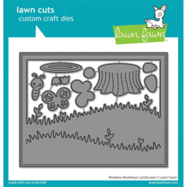 LF2267 Lawn Cuts Custom Craft Die Meadow Backdrop: Landscape