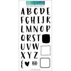 "054742 Concord & 9th Clear Stamps Bold & Brushy Uppercase 4""X8"""
