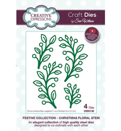 CED3130 The Festive Collection Christmas Floral Stem