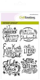 130501/1260 CraftEmotions clearstamps A6 wir gratulieren... handlettering (DE)