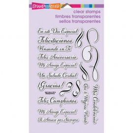 429802 Stampendous Perfectly Clear Stamps Spanish Loving Messages
