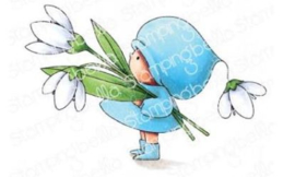 EB909 Stamping Bella Cling Stamps Bundle Girl With A Snowdrop