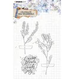 STAMPCNB515	StudioLight Clear Stamp background Celebrate new beginnings nr.515