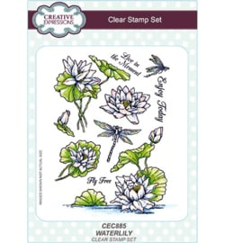 CEC885 Creative Expressions Stempel Waterlily