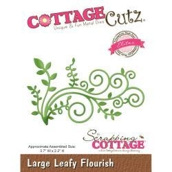 "334678 CottageCutz Elites Die Large Leafy Flourish, 3.7""X2.2"""