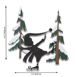 664750 Sizzix Thinlits Die Set - Thin Ice 6PK Tim Holtz