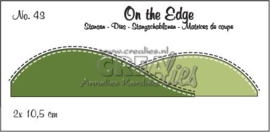 115634/1843 Crealies On the edge die stans no 43 CLOTE43 10,5 cm