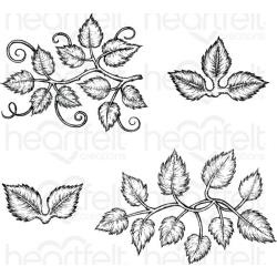 "243463 Heartfelt Creations Cling Rubber Stamp Set Leafy Accents 5""X6.5"""