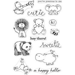 "588350 Hero Arts From The Vault Clear Stamp Cute Animals 4""X6"""