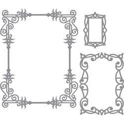 S5307 Spellbinders Card Creator Die By Stacey CaronA2 Swirls Frame