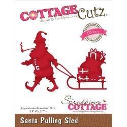 "506202 CottageCutz Elites Die Santa Pulling Sled 3.8""X2.7"""