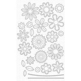 MFT0969 My Favorite Things Die-namics Die Stitched Flowers