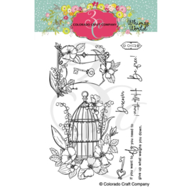 """C3WW514 Colorado Craft Company Clear Stamps Be Free-Whimsy World 4""""X6"""""""