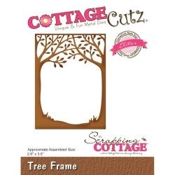 "444054 CottageCutz Elites Die Tree Frame, 2.6""X3.5"""