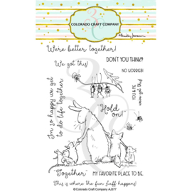 """C3AJ377 Colorado Craft Company Clear Stamps Better Together-By Anita Jeram 4""""X6"""""""