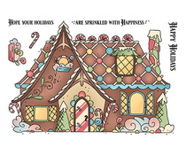 LDRS3276 LDRS Creative Gingerbread House Set 4x6 Inch Clear Stamps