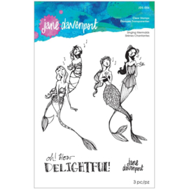 JDS056 Jane Davenport Stamp Camp Collection Clear Stamps Set Singing Mermaids