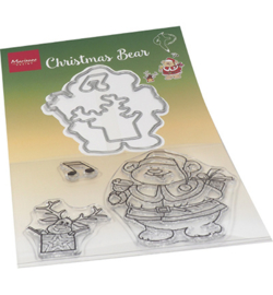 HT1658 Marianne Design Stamp + die set Hetty's Christmas bear