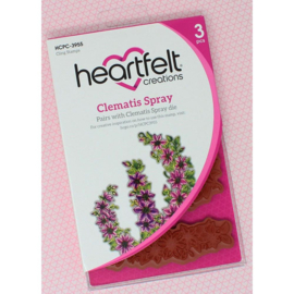 HCPC3955 Heartfelt Creations Cling Rubber Stamp Set Clematis Spray