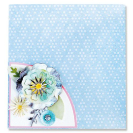 664883 Sizzix Thinlits Die - Folio Page Pocket & Flowers Eileen Hull