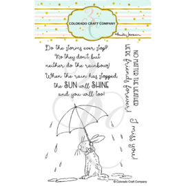 "644256 C3AJ395 Colorado Craft Company Clear Stamps All Weather Friends-By Anita Jeram 4""X6"""