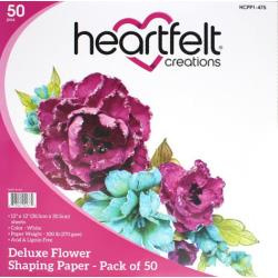 "586876 Heartfelt Creations Flower Shaping Paper  White 12""X12"" 25/Pkg"