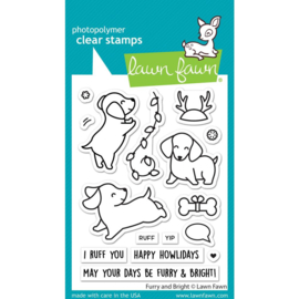 """LF2670 Lawn Fawn Clear Stamps Furry & Bright 3""""X4"""""""