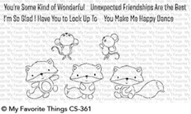 CS-361 My Favorite Things Fox & Friend Clear Stamps