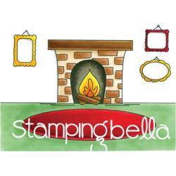 256888 Stamping Bella Cling Stamps Fireplace Backdrop