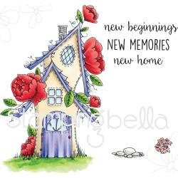 076249 Stamping Bella Tiny Townie Cling Stamp Set Fairy Garden House