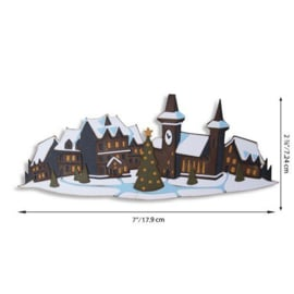 664737 Sizzix Thinlits Die Set - Holiday Village Colorize 7PK Tim Holtz