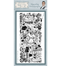 SYR012 Creative Expressions Rubber Stamp Masculine Paraphenalia