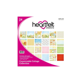 """HCDP1-2123 Heartfelt Creations Double-Sided Paper Pad Countryside Cottage 12""""X12"""""""