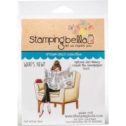 447050 Stamping Bella Cling Stamps Uptown Girl Nancy Reads The Newspaper