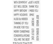 CS-335 My Favorite Things Birdie Brown Greetings Galore Clear Stamps