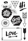 394798 Basic Grey Highline Cling Stamps By Hero Arts Life Is Good