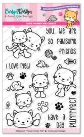 CDJD-0014 CarlijnDesign Stempels Penny Kitty Cat
