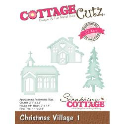 "540414 CottageCutz Elites Die Christmas Village 1 1.1"" To 2.4"""